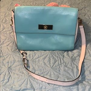 Kate Spade light blue/green and beige crossbody